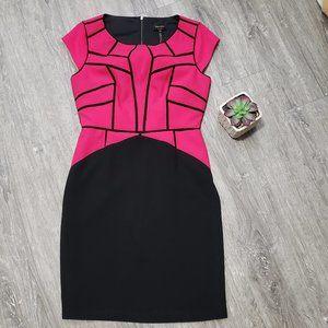 Laundry Shelli Segal * Pink Geometric Cap Sleeve 6